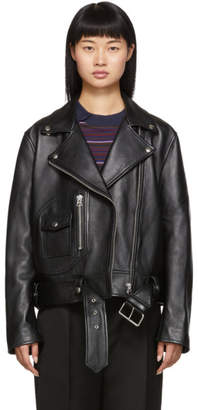 Acne Studios Black Leather New Merlyn Jacket