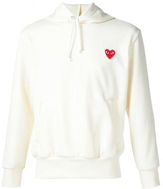 Comme des Garcons heart appliqué hoodie
