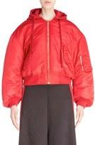 Vetements Women's Oversize Crop Bomber Jacket