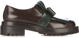 Marni Fringed bow leather loafers