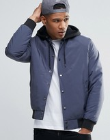 Asos Bomber Jacket with Jersey Hood