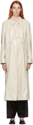 Kim Matin Off-White Placket Coat