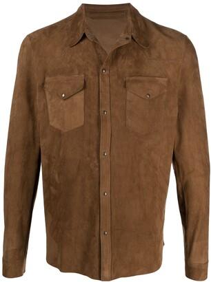 Salvatore Santoro Cam suede shirt jacket
