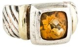David Yurman Two-Tone Citrine Classic Cable Ring