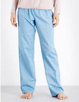 Calvin Klein Patterned straight cotton pyjama bottoms