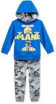 Nannette Baby Boys' 2-Pc. Plane Hoodie & Camo-Print Pants Set