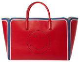 Anya Hindmarch Ebury Featherweight Sporty Stripes Wink Maxi Leather Tote