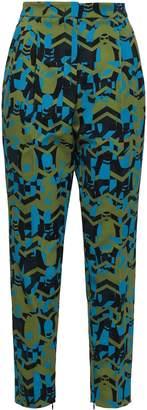 M Missoni Printed Twill Tapered Pants