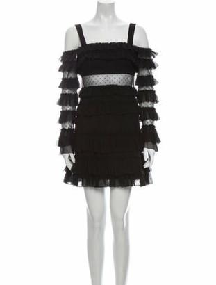 Alexis Lace Pattern Mini Dress w/ Tags Black
