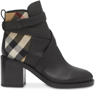 Burberry Vintage Check panel ankle boots