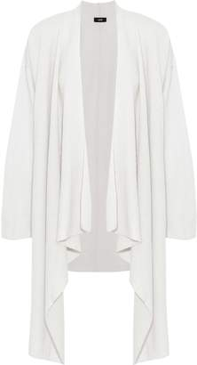 Line Draped Pointelle-knit Wool And Cashmere-blend Cardigan