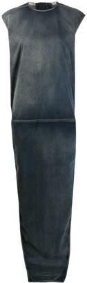 Rick Owens side slit maxi dress
