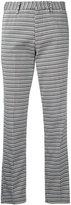 Pt01 striped cropped trousers - women - Cotton/Polyamide/Spandex/Elastane - 42
