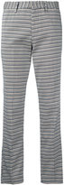 Pt01 striped cropped trousers - women - Cotton/Polyamide/Spandex/Elastane - 46