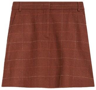 Max & Co. Check Mini Skirt