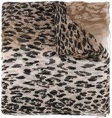 Salvatore Ferragamo leopard-print scarf - women - Silk - One Size