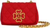 One Kings Lane Vintage 1980s Chanel Red Leather & Cotton Bag