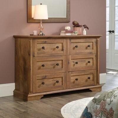 Thumbnail for your product : Laurel Foundry Modern Farmhouse Mechling 6 Drawer Double Dresser Color: Vintage Oak