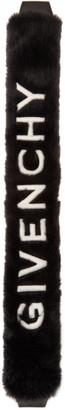 Givenchy Black Faux-Fur Bag Strap Sock