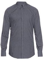 Dolce & Gabbana Gold-fit Geometric-print Cotton Shirt
