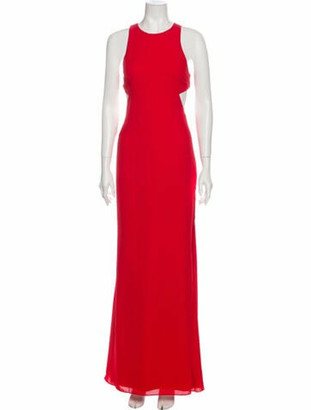 Fame & Partners Crew Neck Long Dress w/ Tags Red