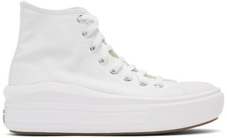 Converse White All Star Move Platform High Sneakers