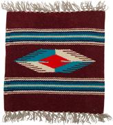 Rejuvenation Small Souvenir Navajo Mat w/ Teal Accents c1945
