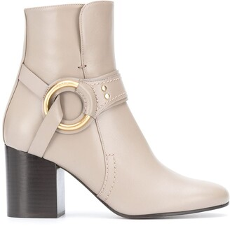 Chloé Harness Ankle Boots