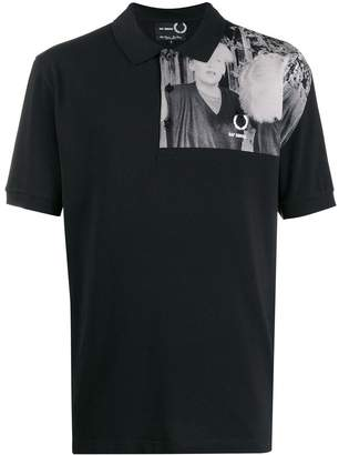 Fred Perry shoulder print polo shirt