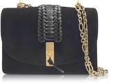 Altuzarra Black Suede Ghianda Chain Shoulder Bag w/Braid