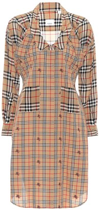 Burberry Checked silk shirt dress