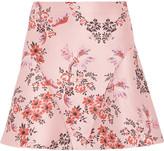 Stella McCartney Floral-jacquard Mini Skirt - Blush