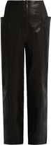 Tibi High-waisted leather trousers