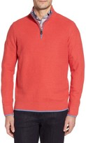 Tailorbyrd Men's Sorrel Tipped Quarter Zip Sweater