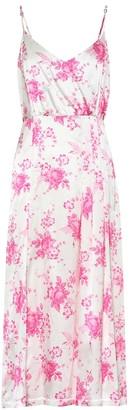 Les Rêveries Floral silk midi dress