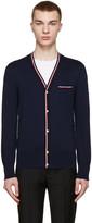 Moncler Gamme Bleu Navy Knit Cardigan