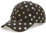 Amici Accessories Women's Foil Star Ball Cap - Black