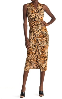 Rachel Roy Sleeveless Tiger Stripe Bret Dress