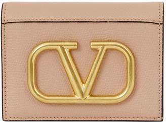 Valentino Garavani Embellished Leather VLOGO Flap Wallet