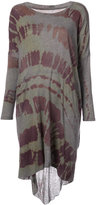 Raquel Allegra draped tie-dye dress - women - Cotton/Polyester - 3