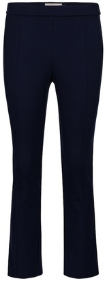 Tory Burch High-rise flared ponte pants