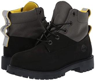 Timberland Kids 6 Waterproof Treadlight Boot (Big Kid) (Black) Boys Shoes