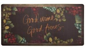"""Home Dynamix Nicole Miller Cook N Comfort Cushioned Anti-Fatigue Kitchen Mat """"Good Wine, Good Time"""""""