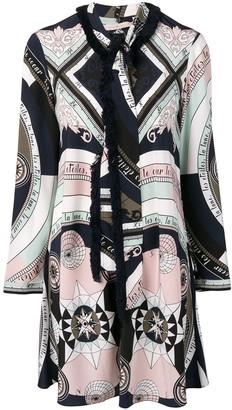 Tory Burch printed fringe shirt dress