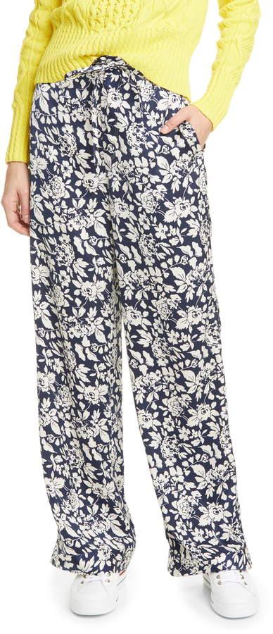 Polo Ralph Lauren Floral Satin Wide Leg Pants