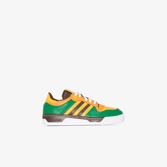 adidas X Human Made green Rivalry leather sneakers