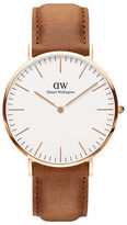 Daniel Wellington Classic Durham Rose Gold and Leather Strap Watch