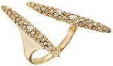 Alexis Bittar Crystal Encrusted Modernist Spear Ring Ring
