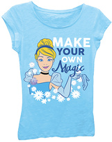 Freeze Blue Cinderella 'Make Your Own Magic' Tee - Girls