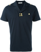 Pierre Balmain gold buttons polo shirt - men - Cotton - 48